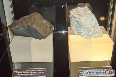Meteorite from Mežakla