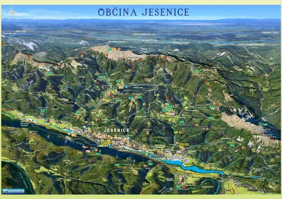 Panoramic map of Jesenice
